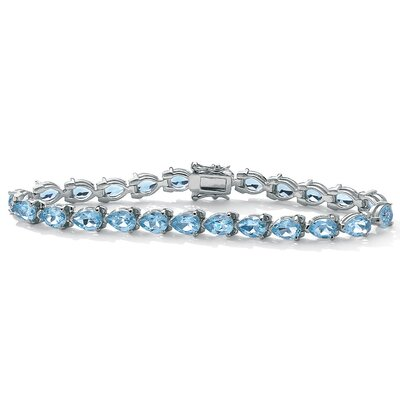 Palm Beach Jewelry Sterling Silver Blue Topaz Bracelet