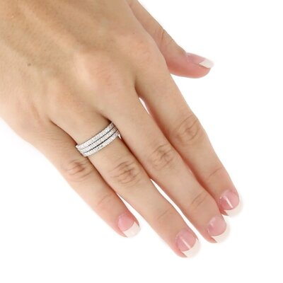 Palm Beach Jewelry Platinum/Silver Eternity Bands