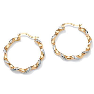 Palm Beach Jewelry 14k Gold Plated Diamond Accent Pierced Earrings