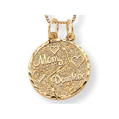 Palm Beach Jewelry 10K Mom / Daughter Pendant