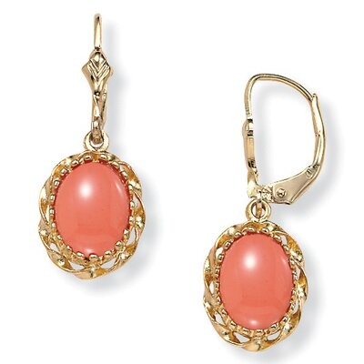 Simulated Coral Earrings