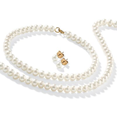 Palm Beach Jewelry 14K Freshwater Cultured Pearl 3 Piece Set