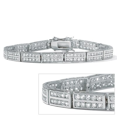 Palm Beach Jewelry Cubic Zirconia Silver Tennis Bracelet