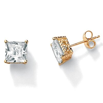 Palm Beach Jewelry Cubic Zirconia 10K Stud Earrings