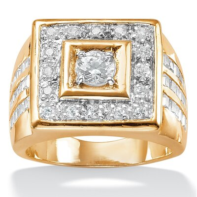 Palm Beach Jewelry Men's Cubic Zirconia Ring