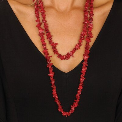 Palm Beach Jewelry Coral Nugget Necklace