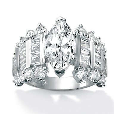 Palm Beach Jewelry DiamonUltra and trade, Cubic Zirconia Ring