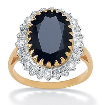Palm Beach Jewelry Sapphire and Diamond Accent Ring