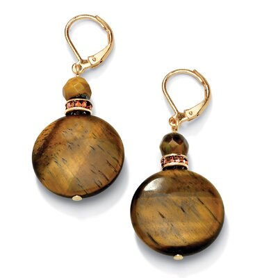 Tiger's - Eye and Crystal Earrings