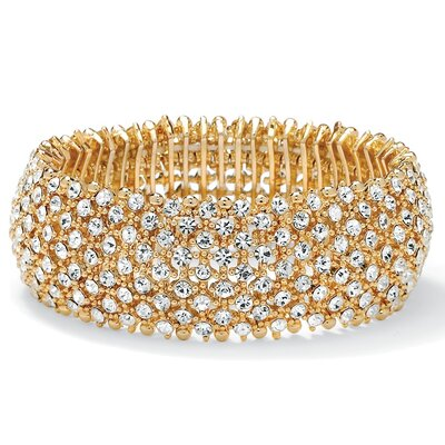 Palm Beach Jewelry Multi-Crystal Stretch Bracelet