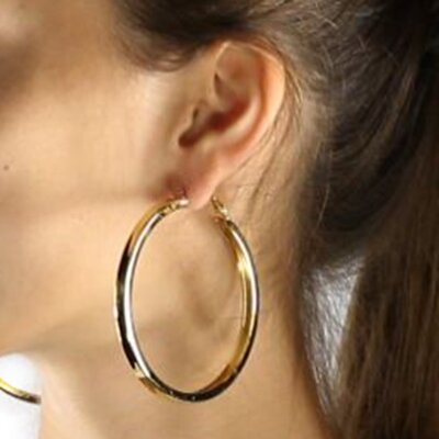 Palm Beach Jewelry 3 Pairs of Hoop Earrings