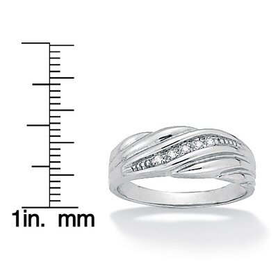 Palm Beach Jewelry Men's Diamond Accent Wedding Band