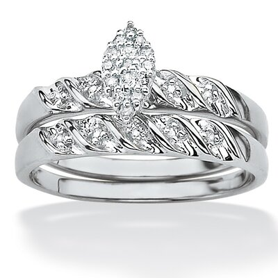 Two-Piece Diamond Wedding Ring Set