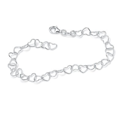 Palm Beach Jewelry Heart-Link Ankle Bracelet