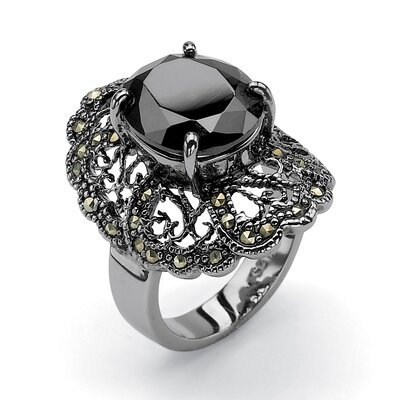 Black Cubic Zirconia Ring