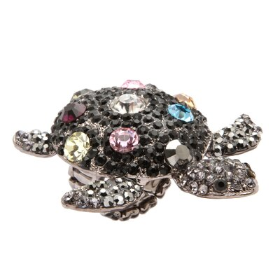 Palm Beach Jewelry Multi-Crystal Turtle Stretch Ring