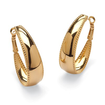 Palm Beach Jewelry Hoop Pierced Earrings