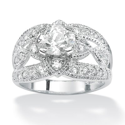 Oval and Round Cubic Zirconia Ring