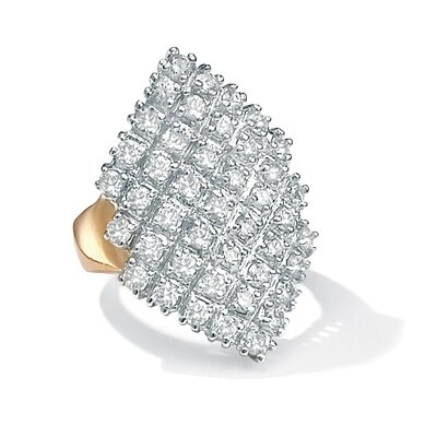 Palm Beach Jewelry Cubic Zirconia Marquise-Shaped Ring