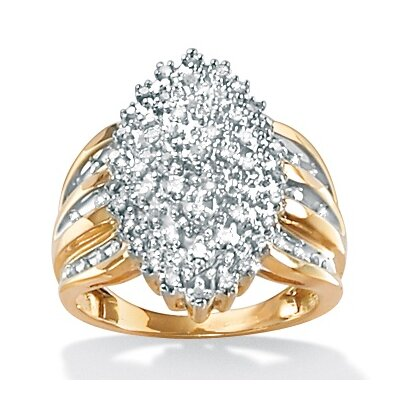 Diamond Marquise-Shaped Ring