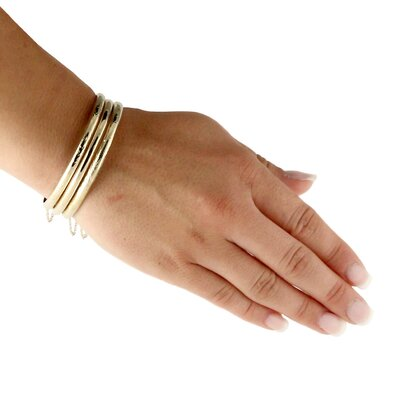 Palm Beach Jewelry Bangle Bracelets (Set of 3)