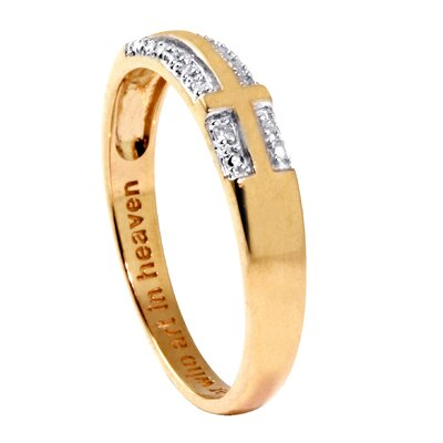 Palm Beach Jewelry Gold Round Diamond Accent Cross Ring
