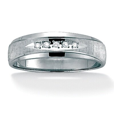 Men's Diamond Accent 10k Gold Wedding Band Ring
