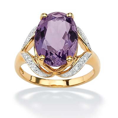 Amethyst and Diamond Accent Ring