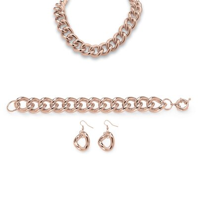 3 Piece Curb Link Chain Set