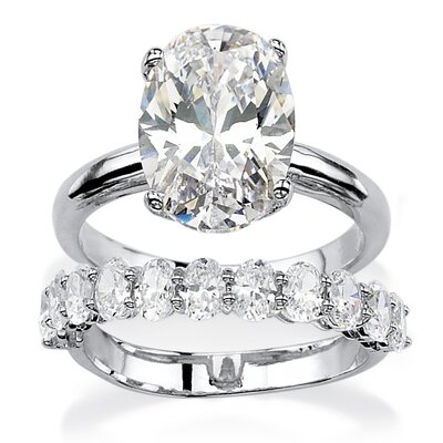 Marquise Cut Cubic Zirconia Bridal Ring Set
