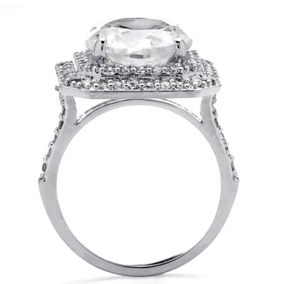 Palm Beach Jewelry Round Cut Cubic Zirconia Halo Ring