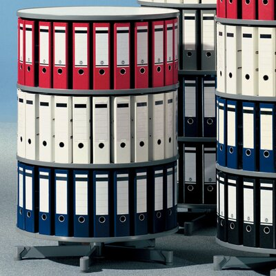 "Empire Office Solutions Spin-N-File 32"" 3 Tier Rotary Binder Storage Carousel"