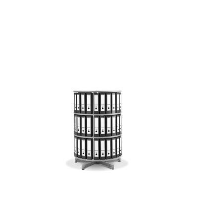 """Bindertek Dealer Solutions Spin-N-File 32"""" 3 Tier Rotary Binder Storage Carousel"""