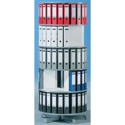 "Bindertek Dealer Solutions Spin-N-File 32"" 5 Tier Rotary Binder Storage Carousel"