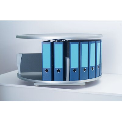 Bindertek Dealer Solutions Deluxe Desktop 1-Tier Rotary Binder Storage Carousel