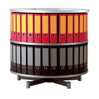 """Bindertek Dealer Solutions Deluxe 32"""" 2 Tier Rotary Binder Storage Carousel"""