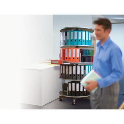 Empire Office Solutions Deluxe 3-Tier Rotary Binder Storage Carousel
