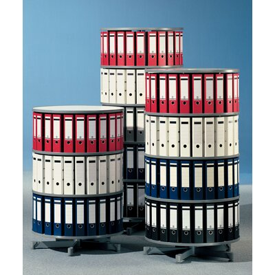 "Bindertek Dealer Solutions Spin-N-File 32"" 3 Tier Rotary Binder Storage Carousel"