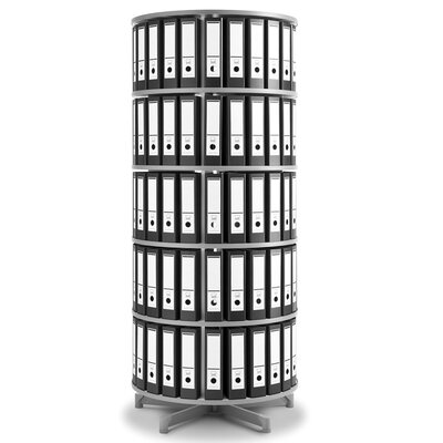 "Empire Office Solutions Spin-N-File 32"" 5 Tier Rotary Binder Storage Carousel"