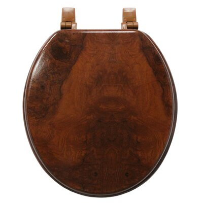 Trimmer Marbleized Molded Wood Round Toilet Seat