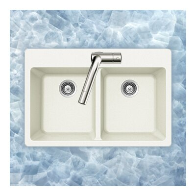 Madison Series Topmount 50/50 Double Bowl Sink