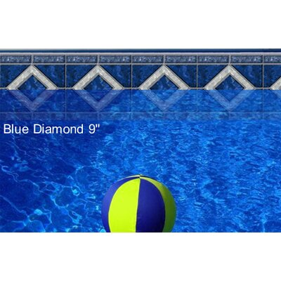 "Borderlines Do-It-Yourself Designer 9"" Blue Diamond Pattern Borderlines Pool Makeover Kit"