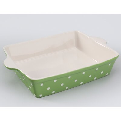 Signature Housewares Dots Rectangular Baker