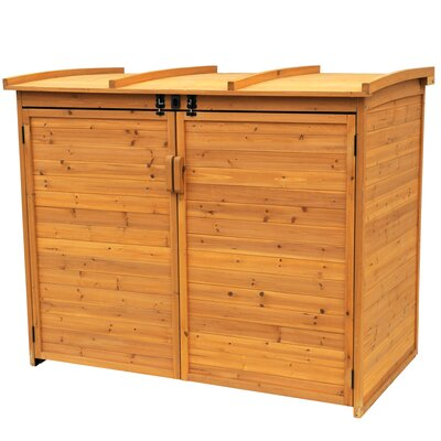 "Leisure Season Horizontal Refuge 5'6"" W x 3'2"" D Wood Storage Shed"