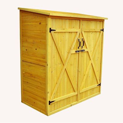 "Leisure Season 4'11"" W x 2'7"" D Wood Lean-To Shed"