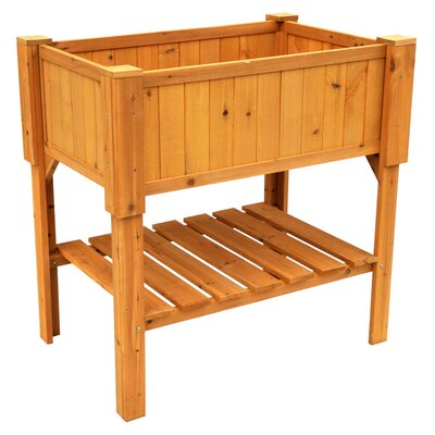 Leisure season wood raised planter box reviews wayfair for Wayfair garden box