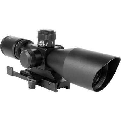 Aim Sports Inc Dual ILL Scope with Cut Sunshade with P4