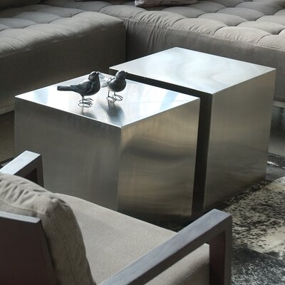 Gus* Modern Stainless Steel Cube