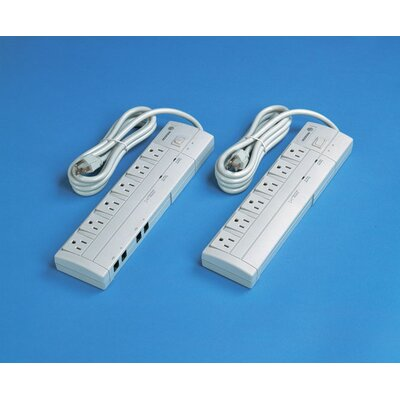 Paragon Furniture 6 Outlet Surge Suppressor with 6 Foot Power Cord