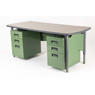 Paragon Furniture All Terrain Teacher Desk Leg Teacher Desk with Accessories